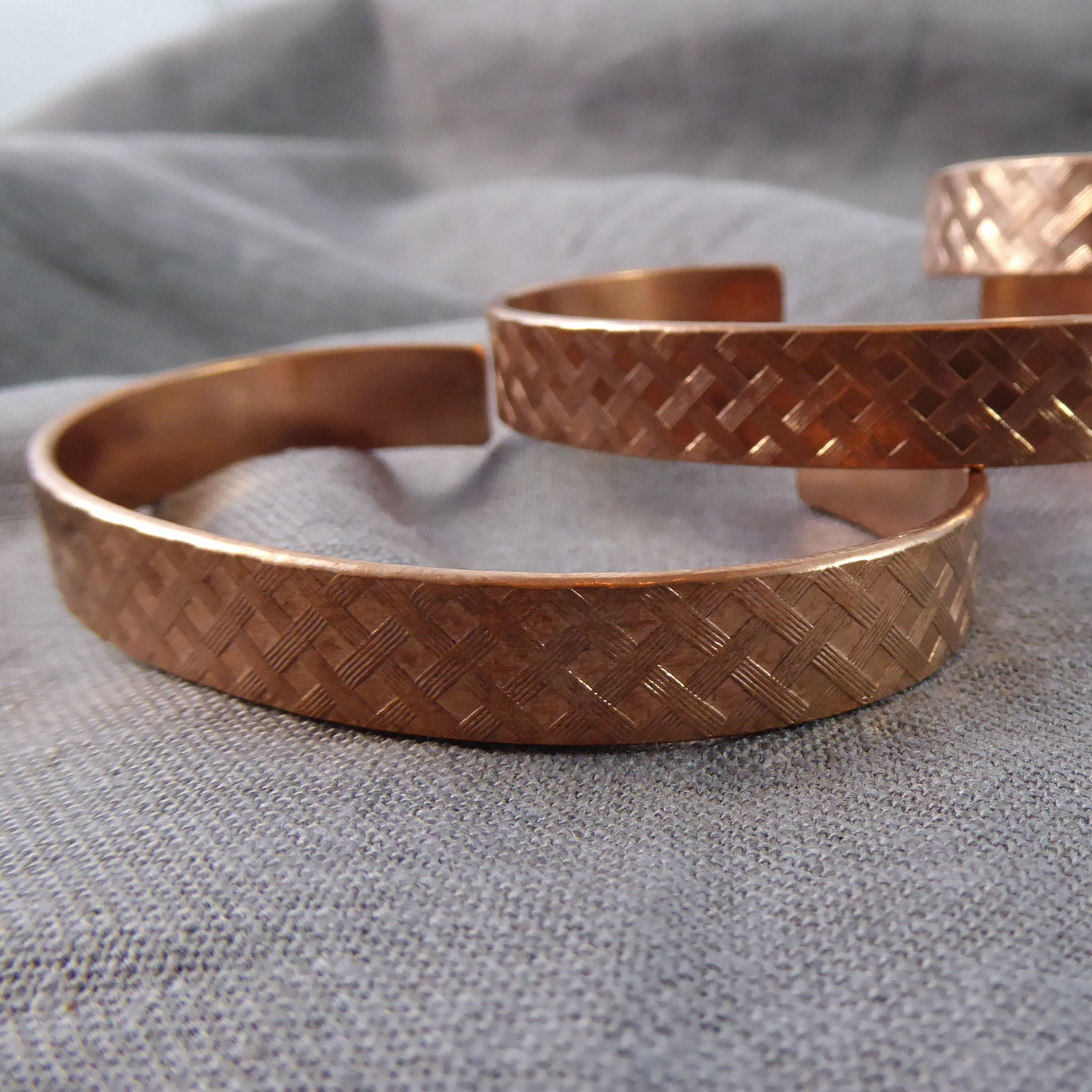 Patterned Copper Cuffs