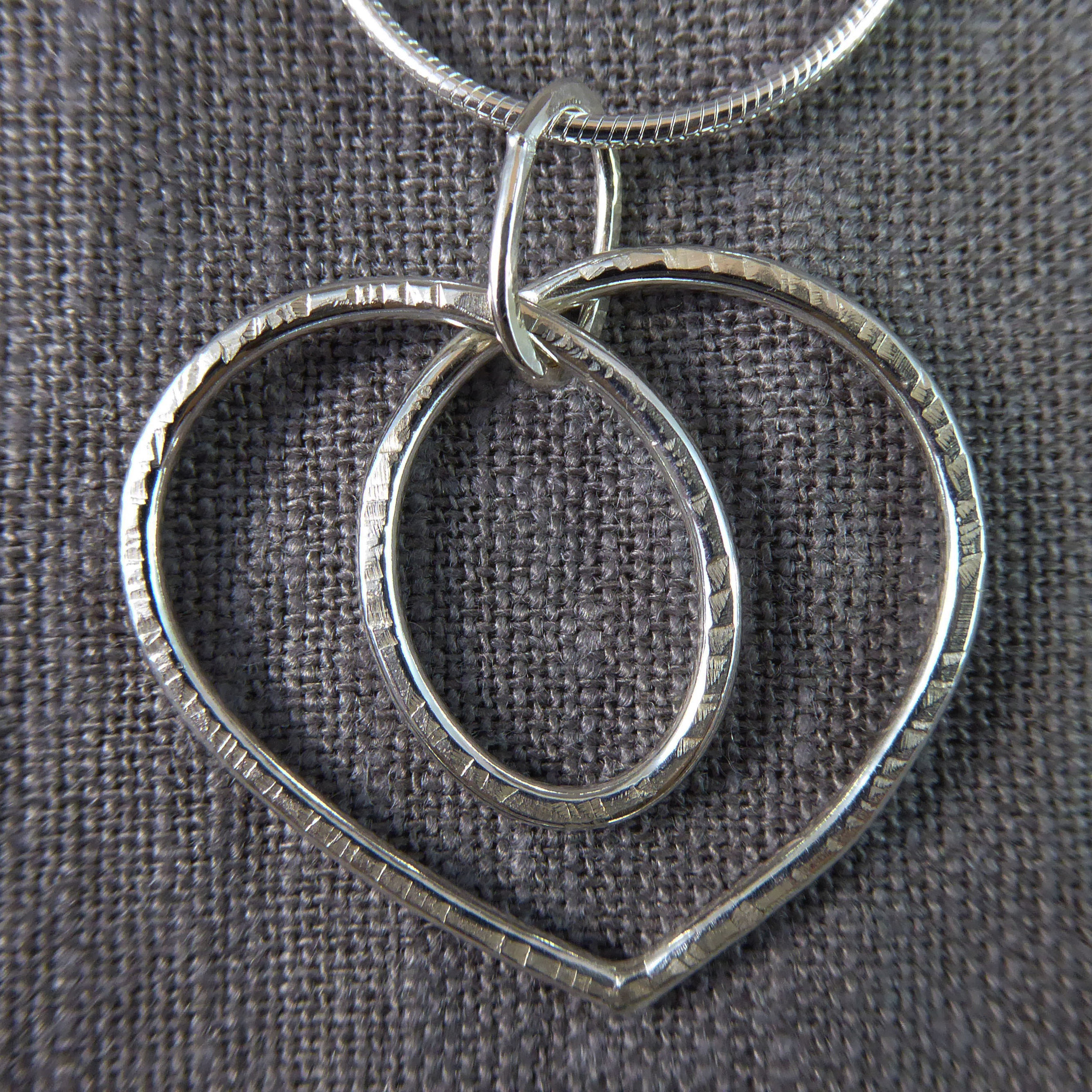 Organic Hammered Sterling Heart