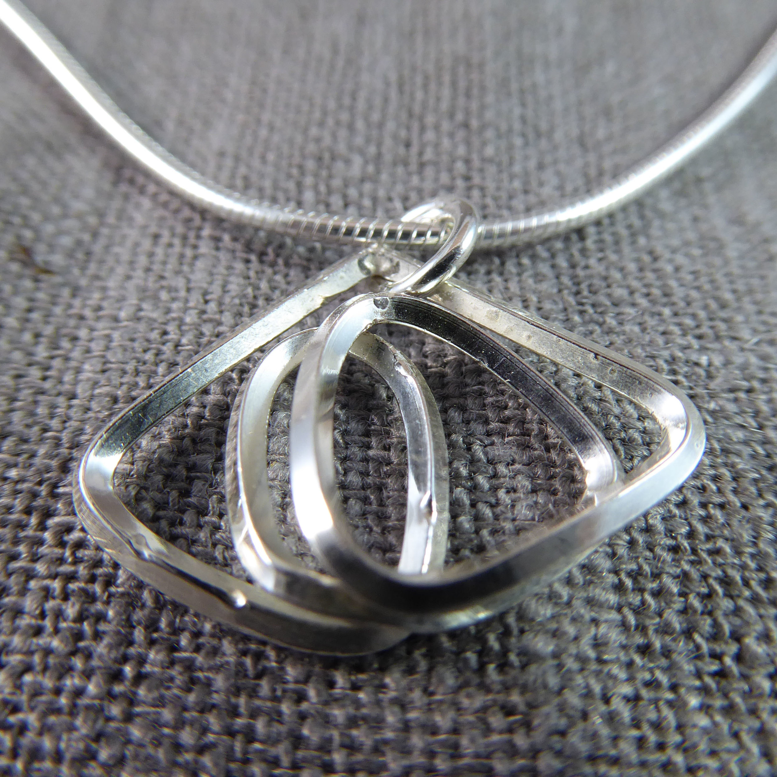 Freeform Sterling Silver Pendant