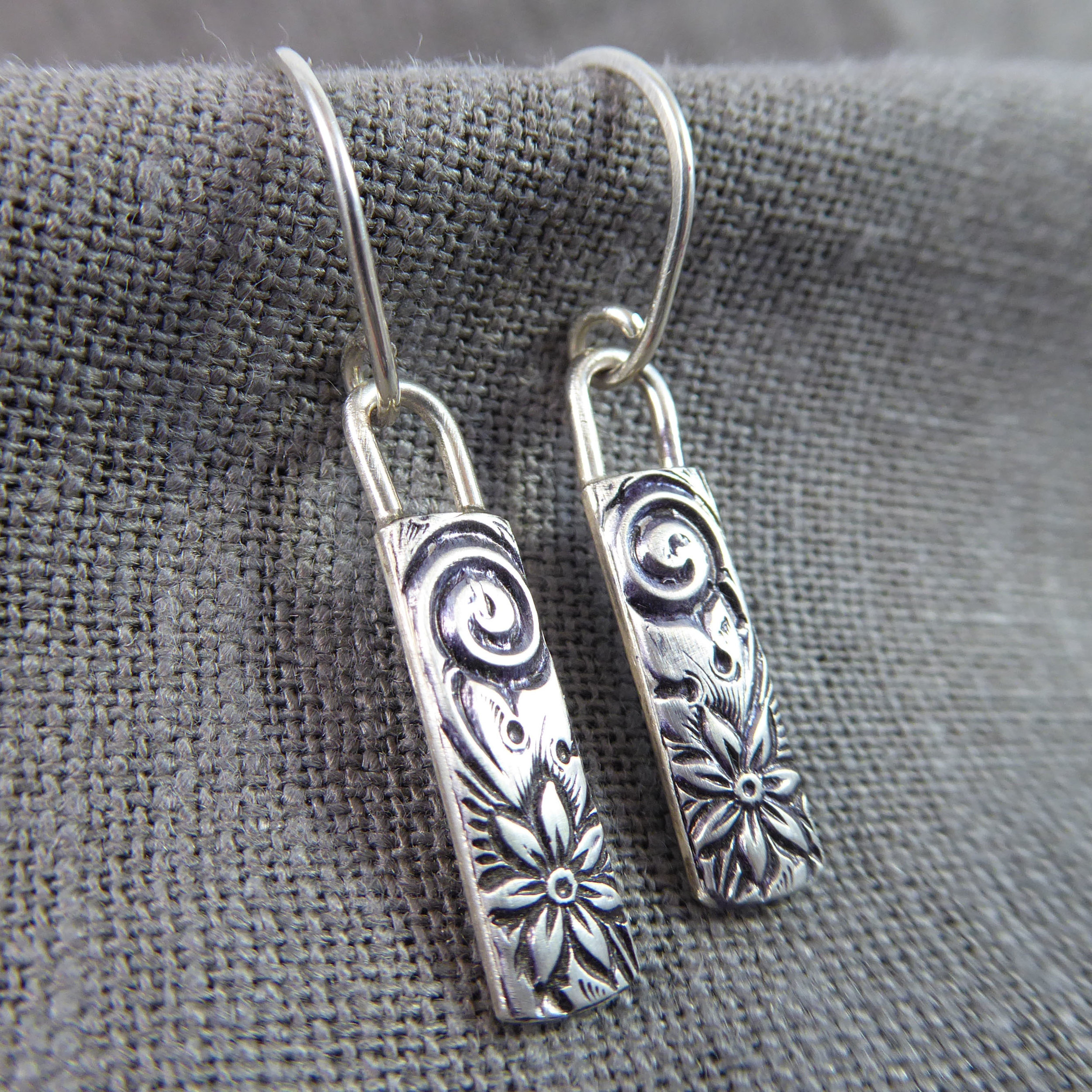 Patterned Sterling Drops