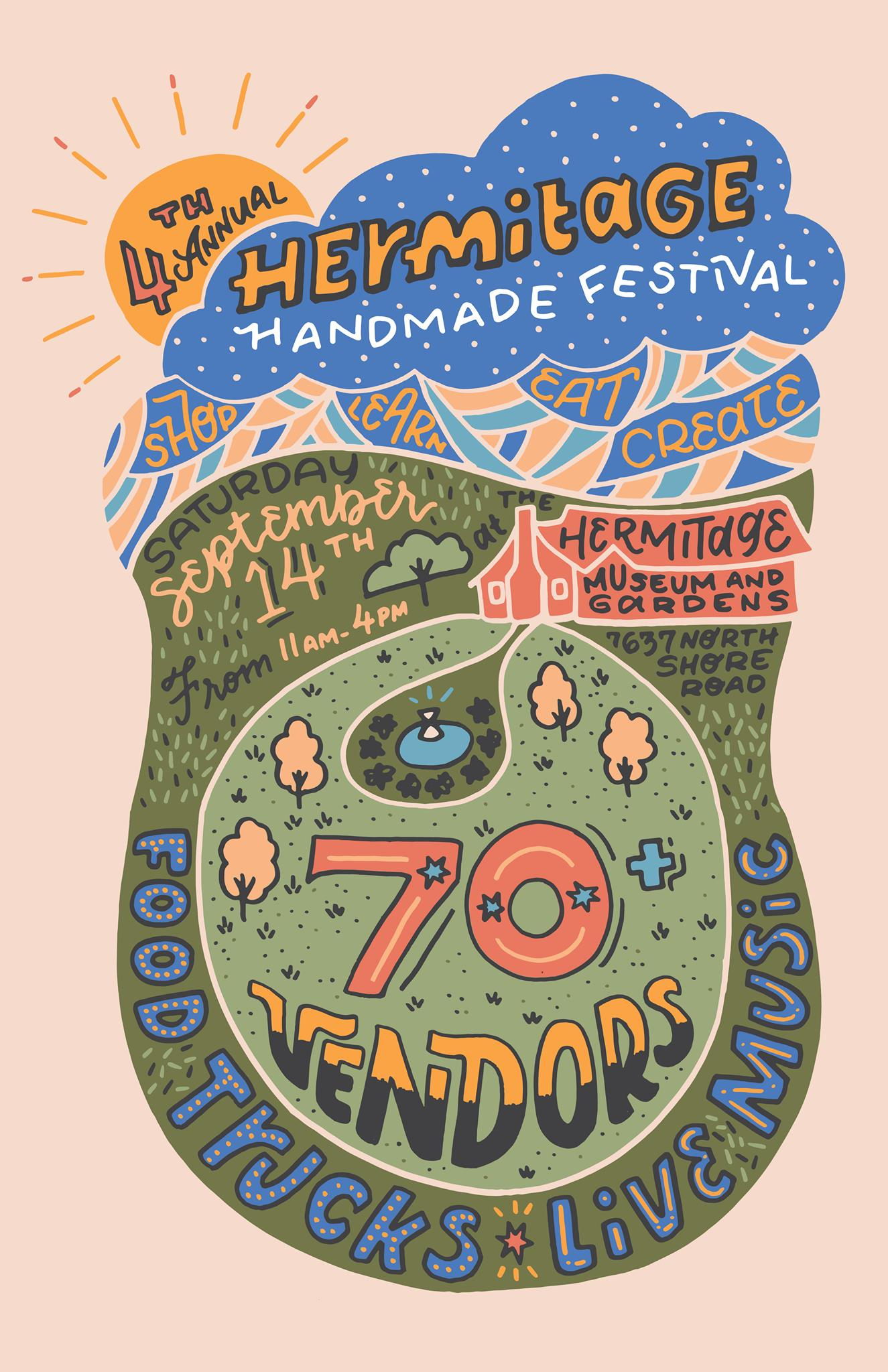 The Hermitage Handmade Festival happens on Saturday, Sept. 14.