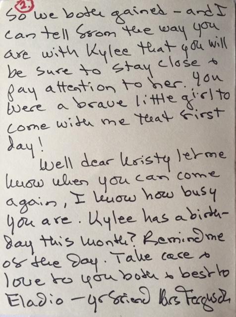 Letter from Ferguson p 2