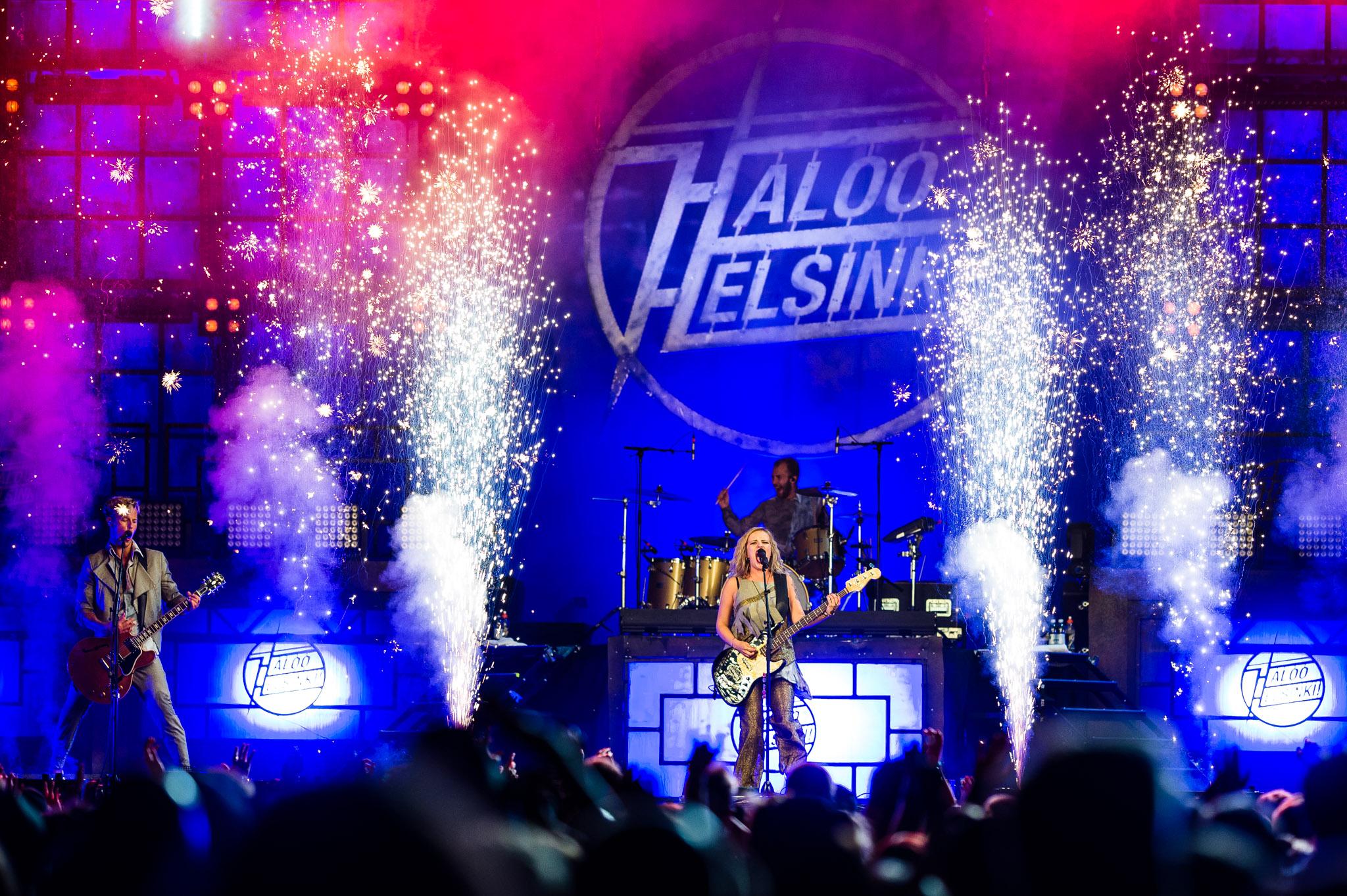 Haloo Helsinki kesäkiertueellaan Kuopiossa, Kuopio Rockcock 2017.