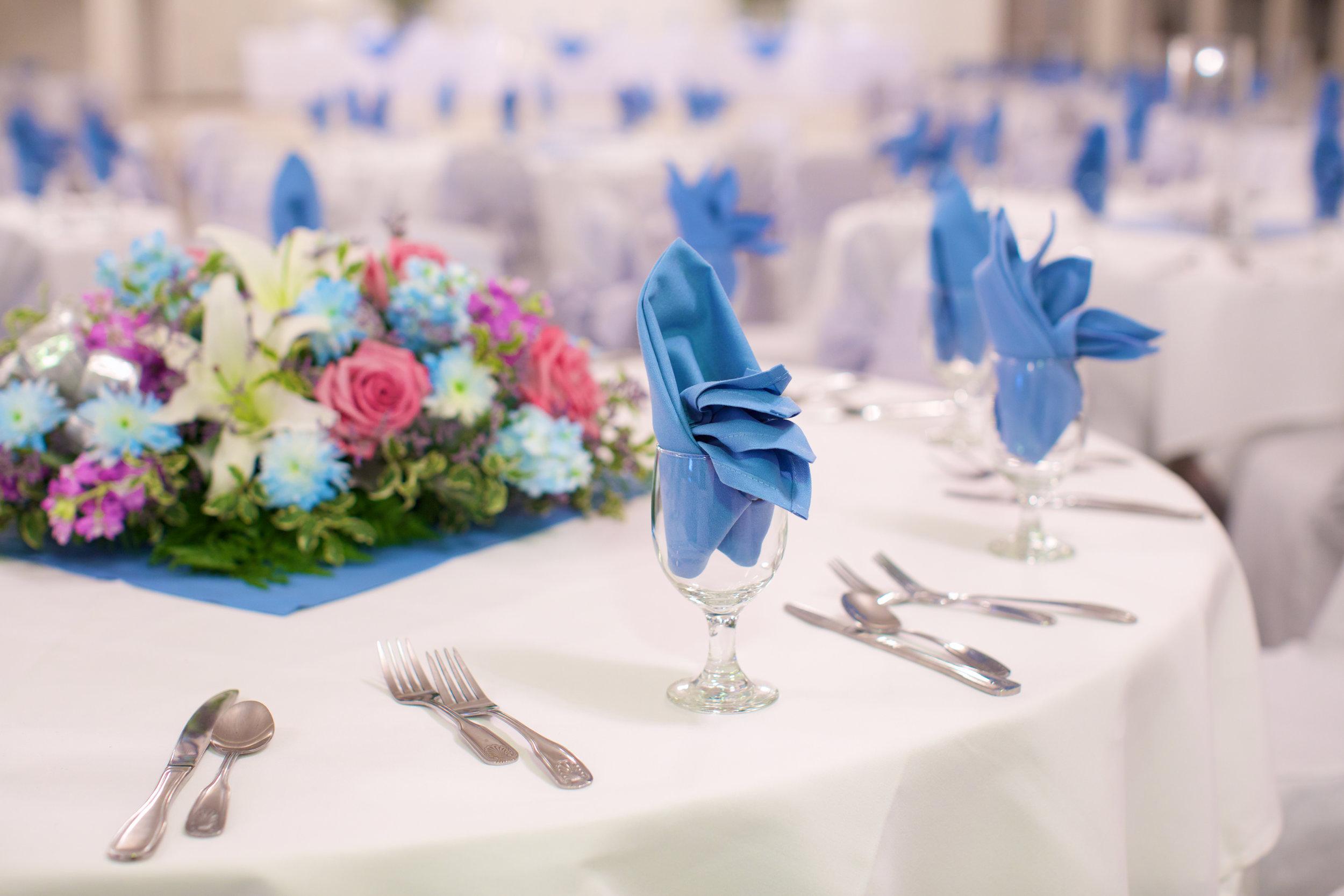 floral arrangement on dining table
