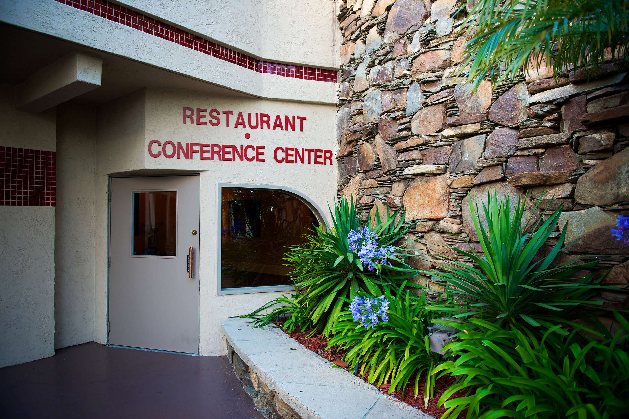 restaurant and conference center entrance