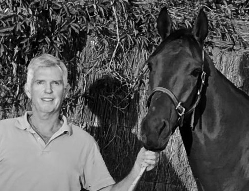 Mark Burnell (Vic) - PresidentMark with his Thoroughbred racehorse