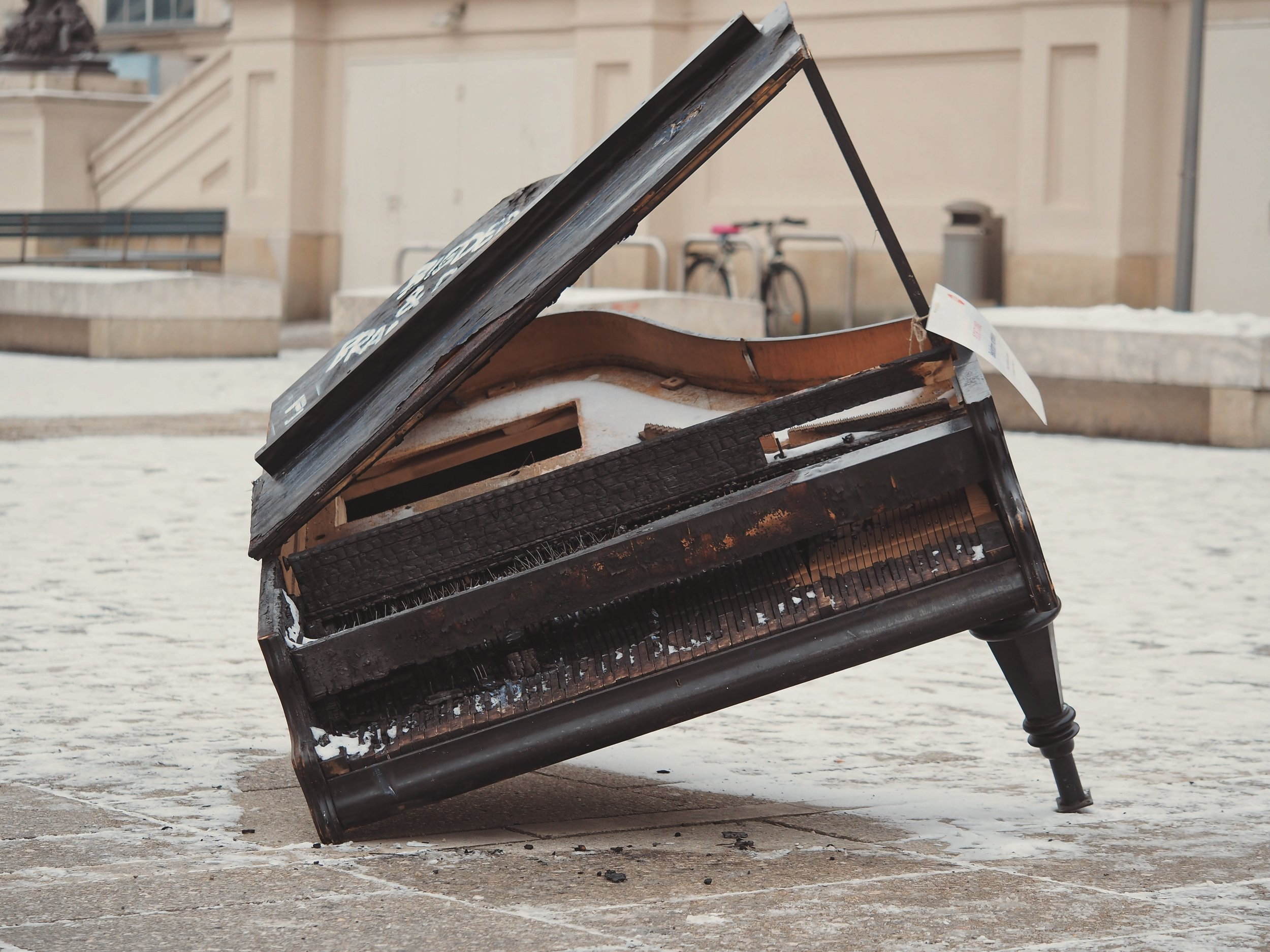 There's a point where every piano comes to the end of its useful life. Please don't buy one after that point! Photo credit:  Adrian Swancar