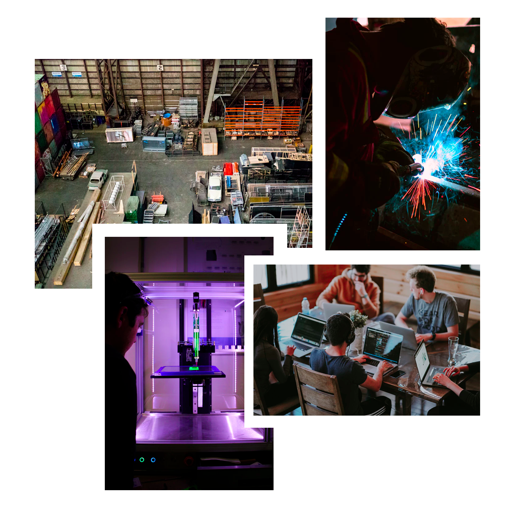 Collage Of Manufacturing Inspired Images