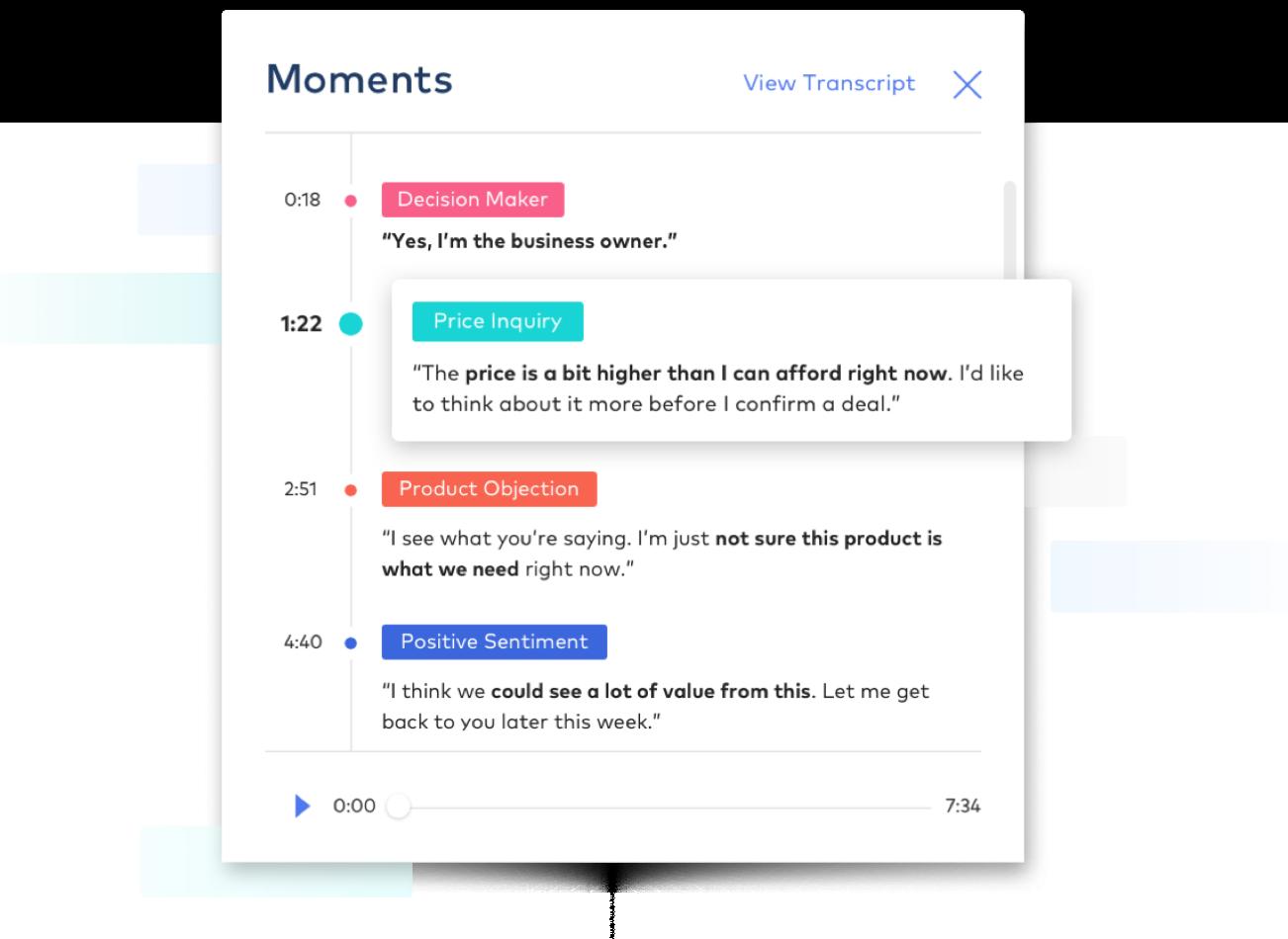 営業タスクを全て管理 - Viは営業活動も常にサポート。Dialpadや営業支援ツールでの会話や活動履歴を全て読み取り、いつ誰と何を話したか、未来のアクションで何をすべきか、教えてくれます。