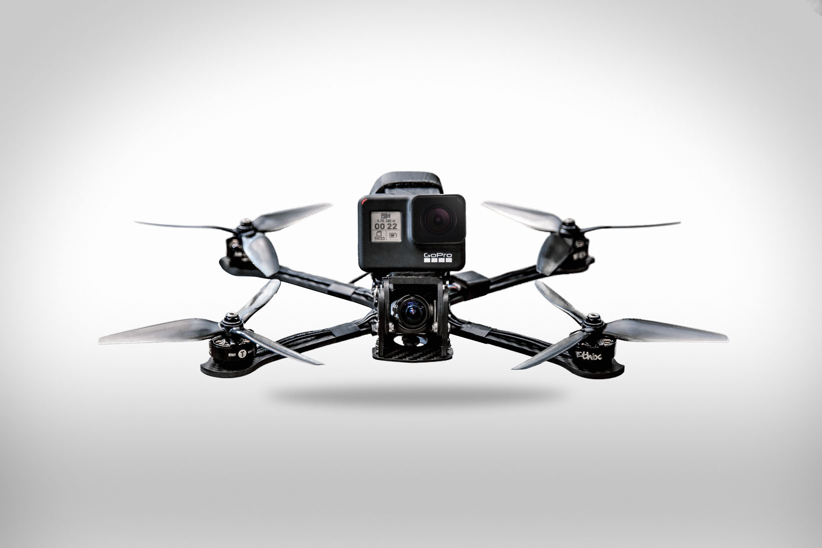 mini drones - These small, high-speed, agile machines are custom built to get impossible shots.