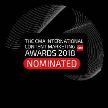 Finalist: 2018 International Content Marketing Awards: Best Travel category