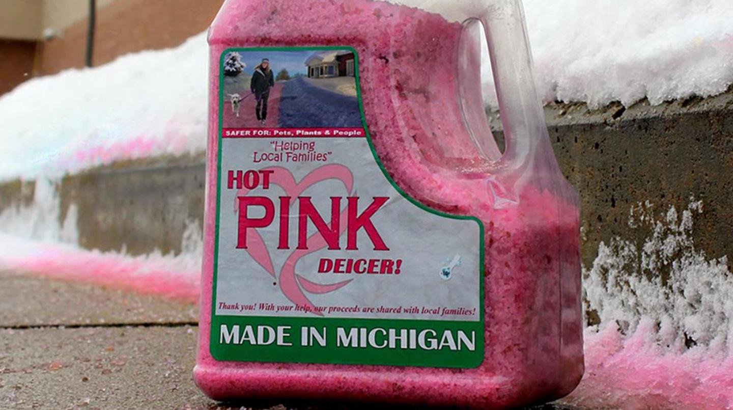 Hot Pink Deicers - made in Michigan