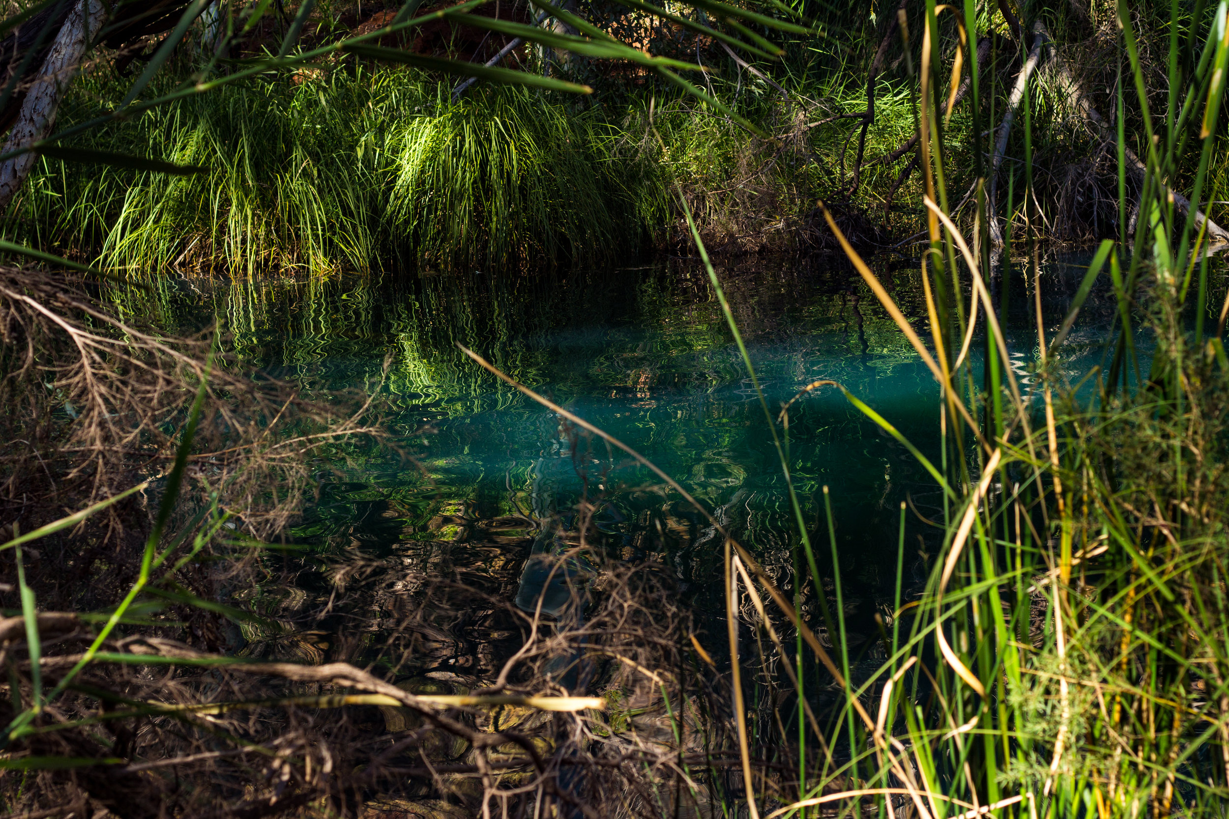 A lake located in Karijini, Western Australia