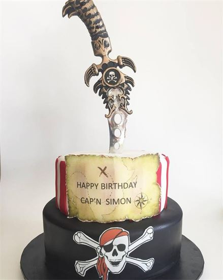 Example of edible image on a cake