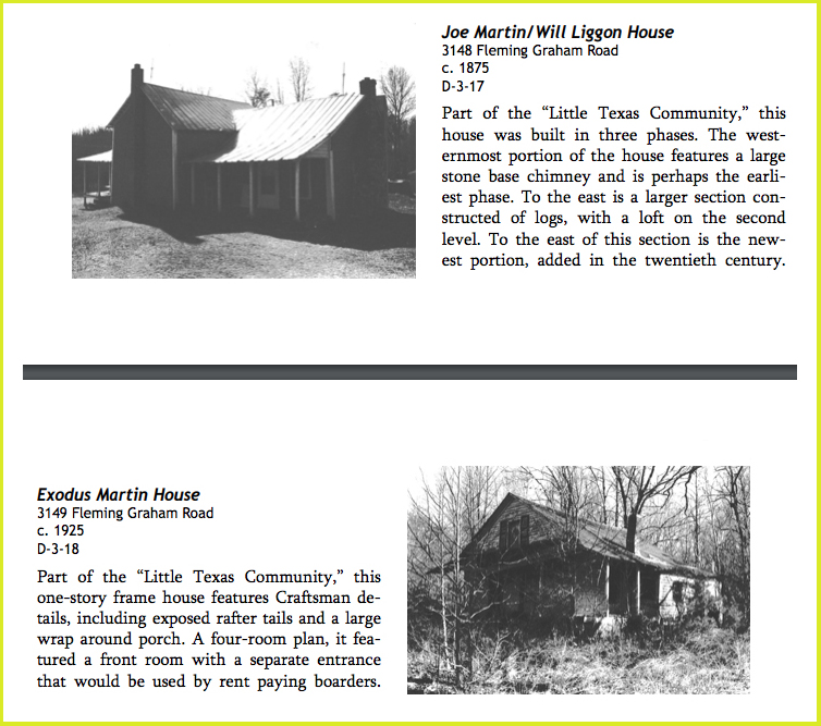 Listings of the homes of my 3x and 2x great grandfathers in the Alamance County Architectural Inventory of the Historical Properties Commission (2014)