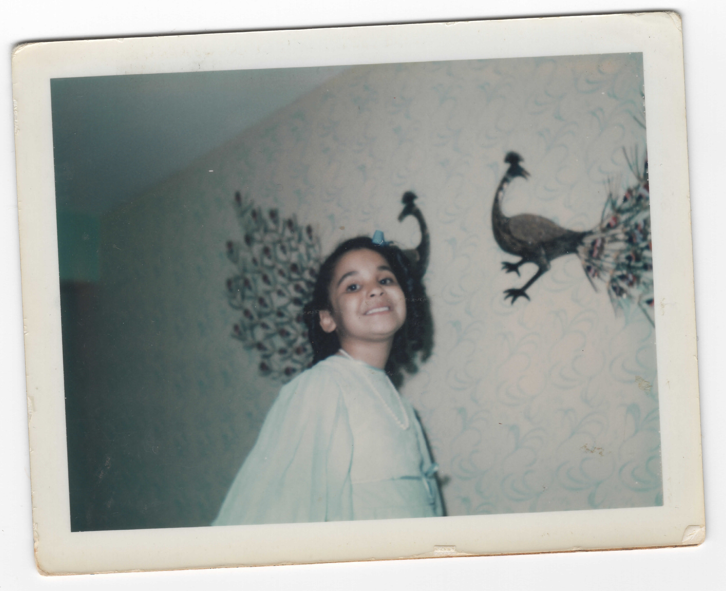 Generation 1:  From Whence I Came II    Childhood photograph of my mother, Veronica Stephanie (circa early 1970s)  4 x 6 in