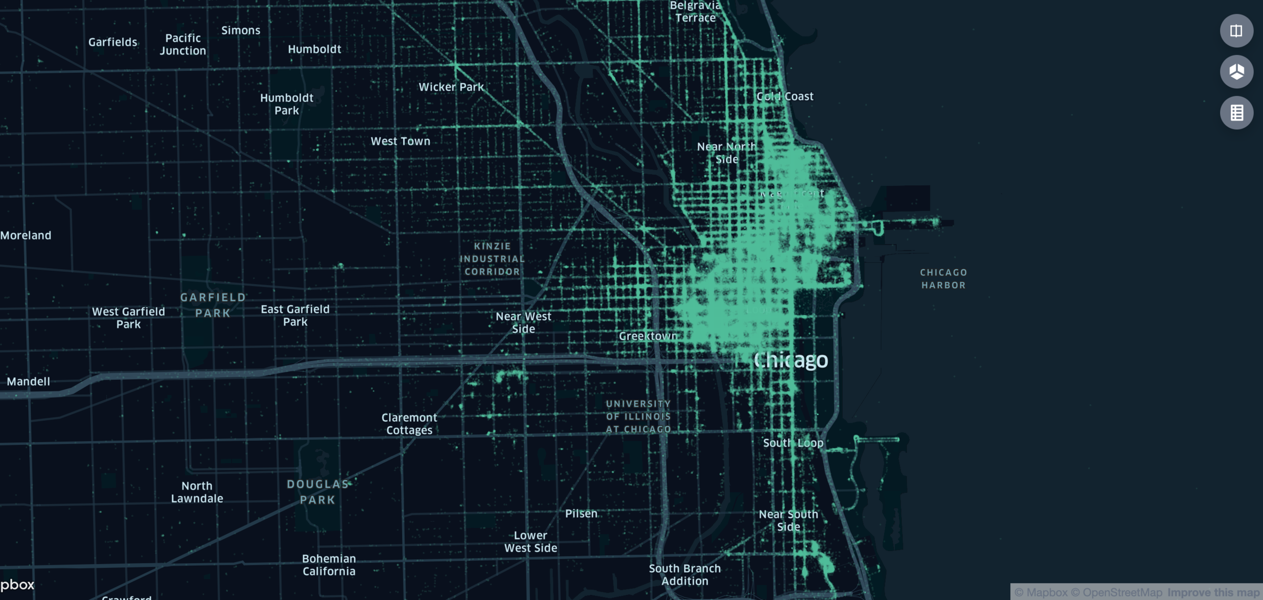 Chicago Static Tops Map Visualization