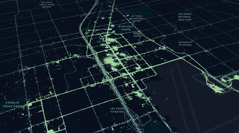Las Vegas Static Tops Map Visualization