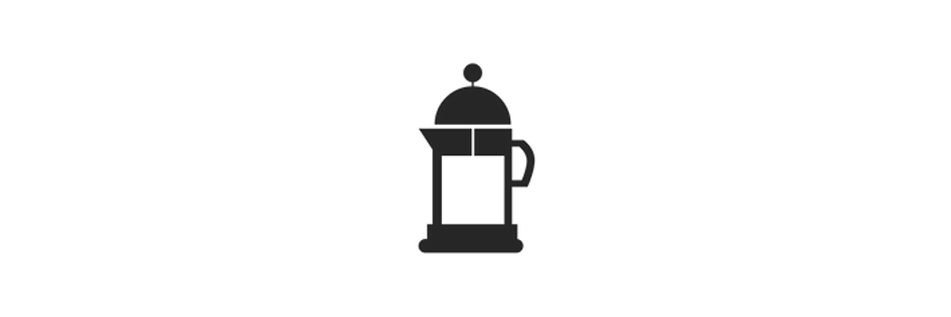 FRENCH PRESS COFFEE EXTRACTION METHOD - 1. Heat 16 ounces of water to 203° F. Grind 22 grams of coffee beans on the course setting.2. Open your French Press, and add ground coffee. Slowly add 6-8 oz of water in a circular motion wetting the grounds. Start a 3.5 minute timer and let the coffee