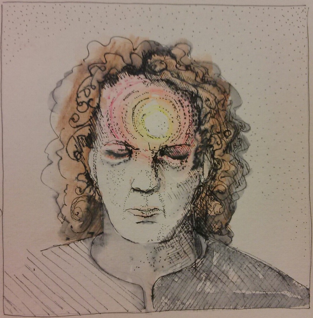 My sister Alison is an artist and teacher. It was easiest for her to illustrate the pain from the tumour.