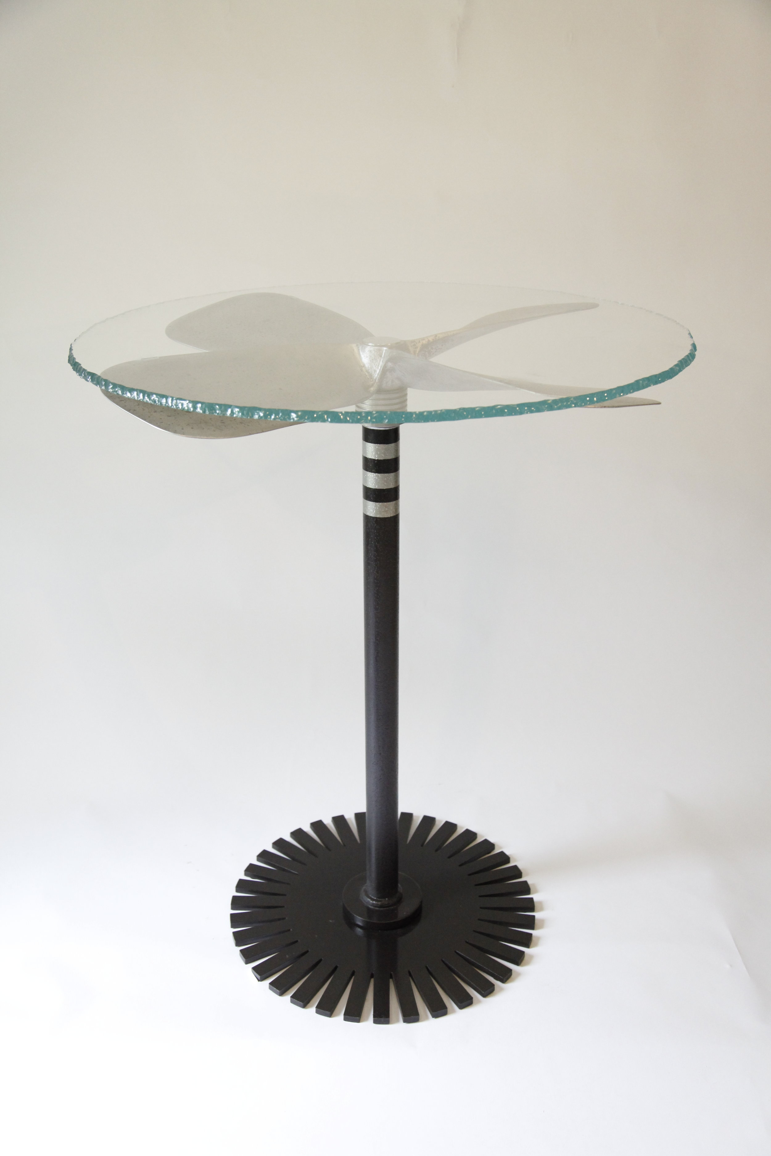 Jim Weitzel - Propeller Table W glass top.JPG