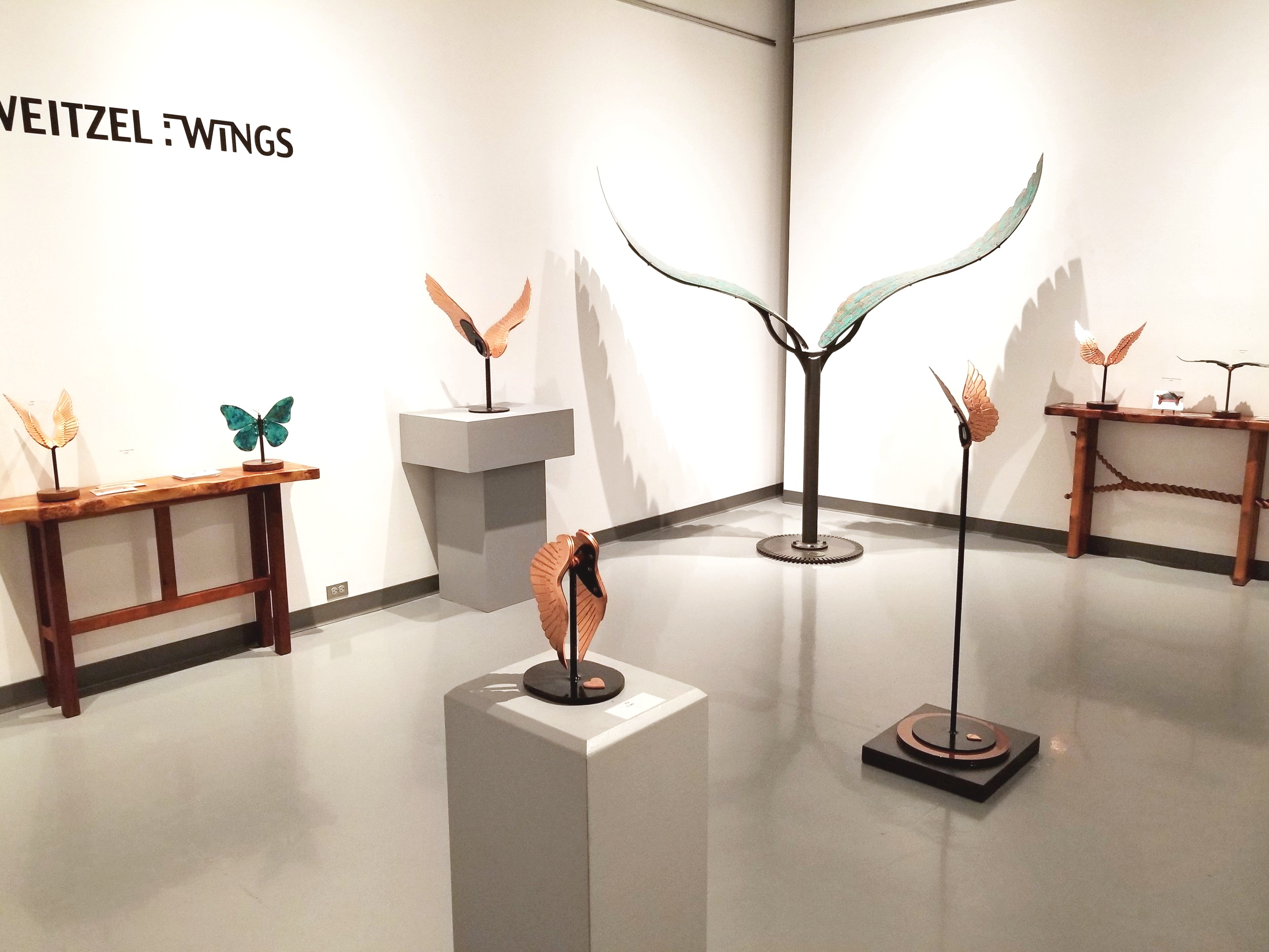 """""""Wings"""" Solo Show at Artists' Guild Spartanburg, 2018"""