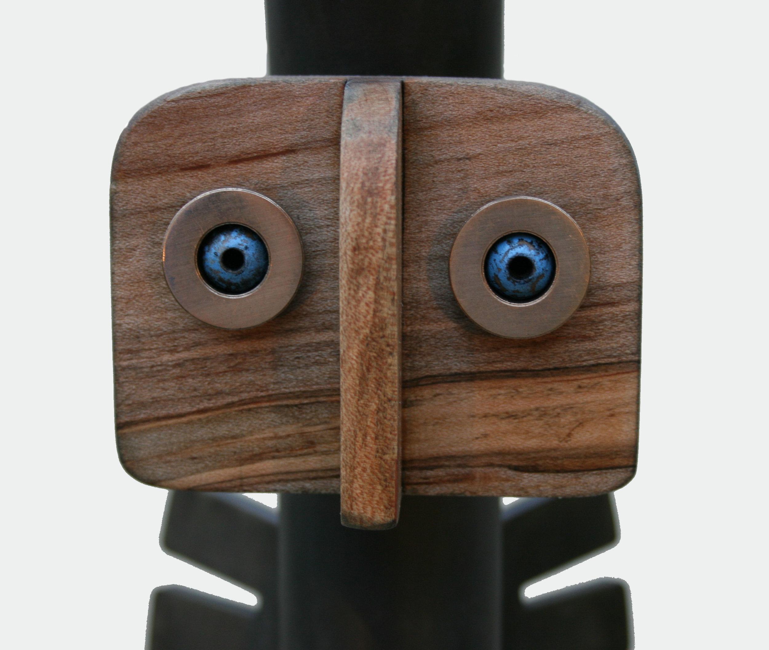 """Sculpture, """"Shaman"""", face detail"""