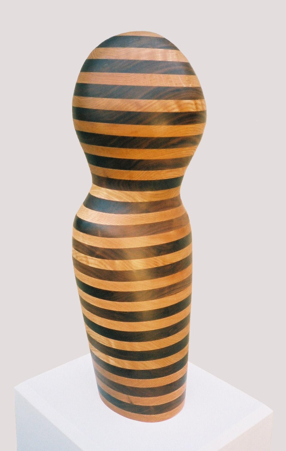 "Surreal Wood Sculpture, ""Sophia"" Oak and Walnut  30"" x 10"" x 10"""