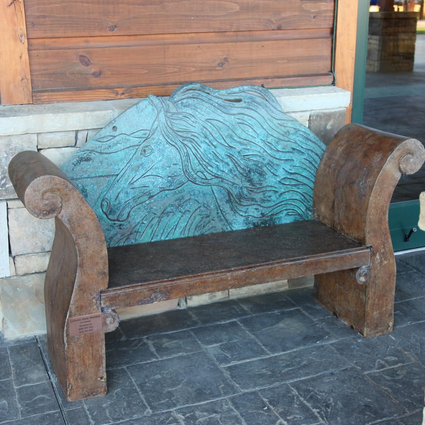 Horse Bench Custom Furniture Jim Weitzel Weitzelart Tryon International Equestrian Center.jpg