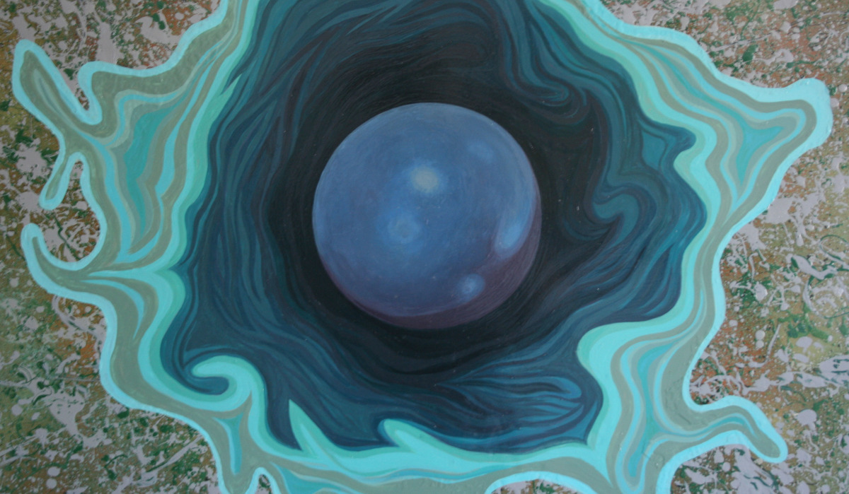 Surreal Painting, Event Horizon detail