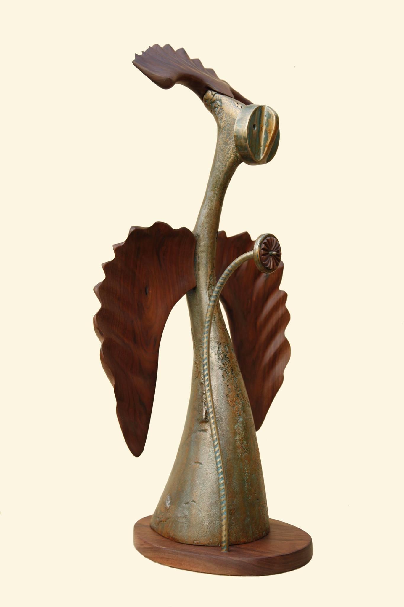"""Sculpture, """"Messenger"""", side view"""
