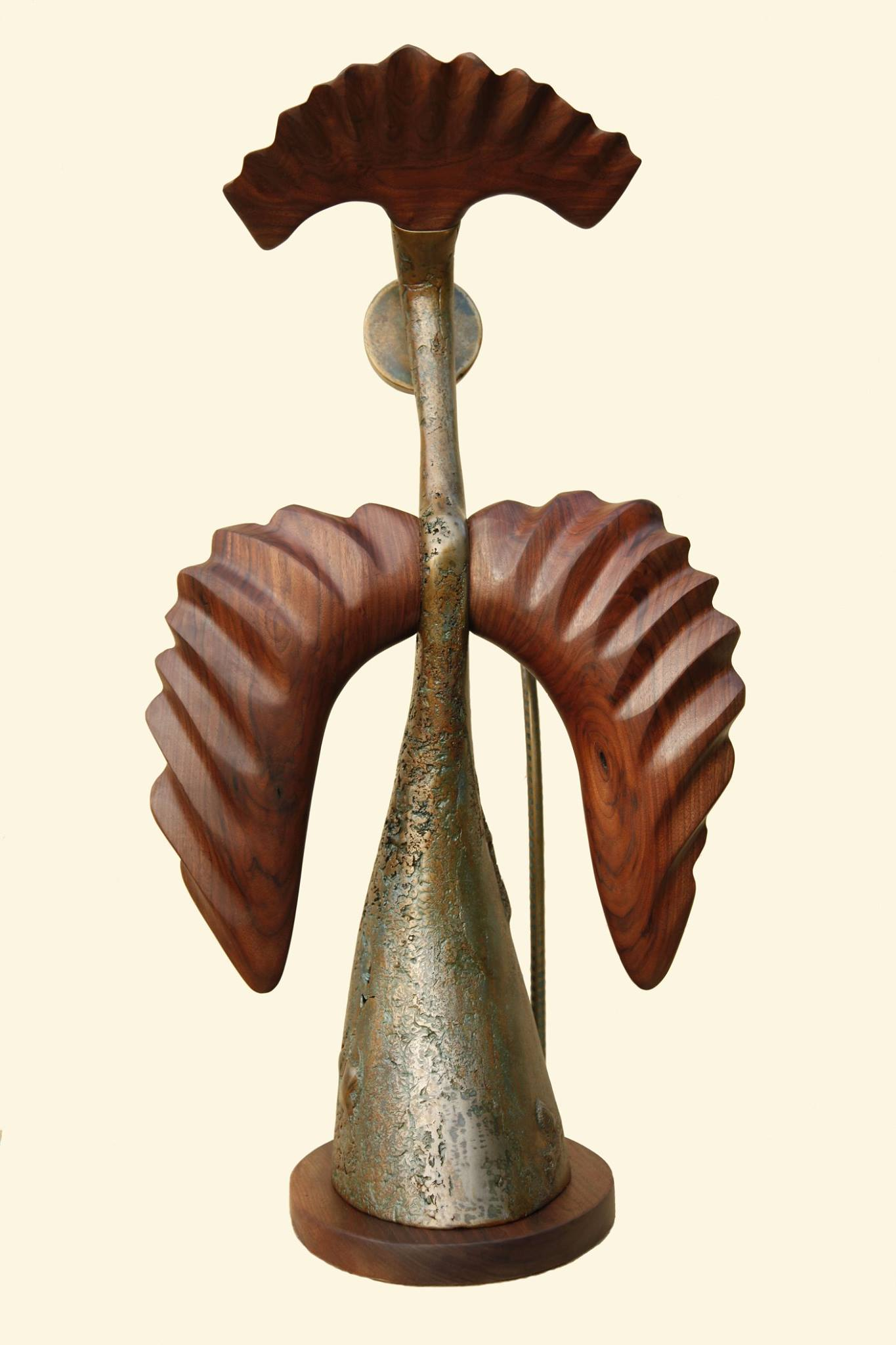 """Sculpture, """"Messenger"""", back view"""