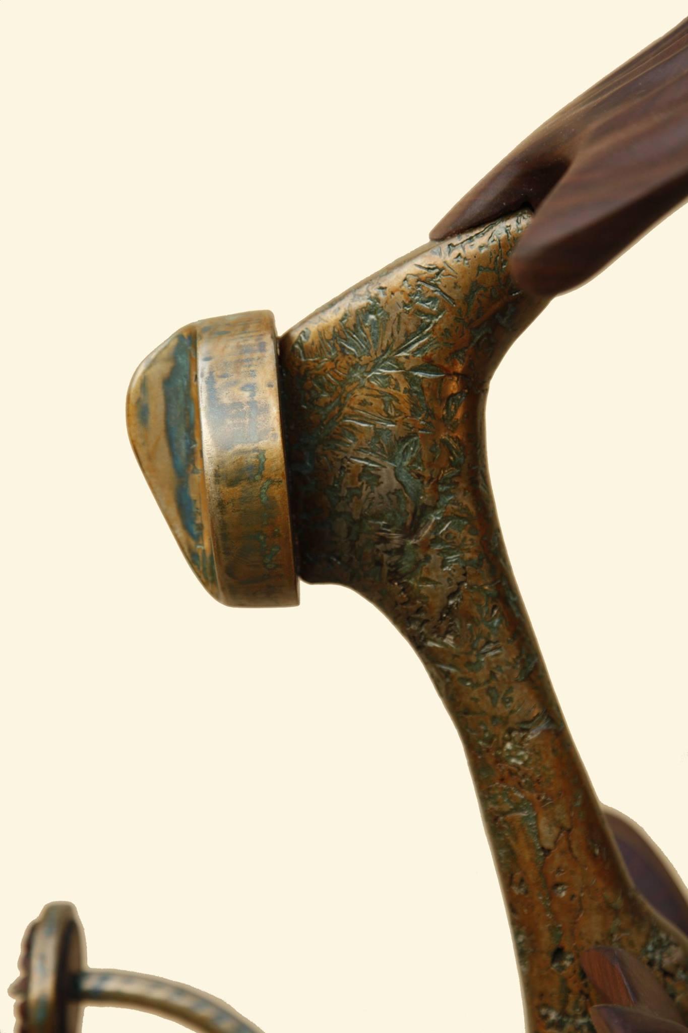 """Sculpture, """"Messenger"""", surface detail"""