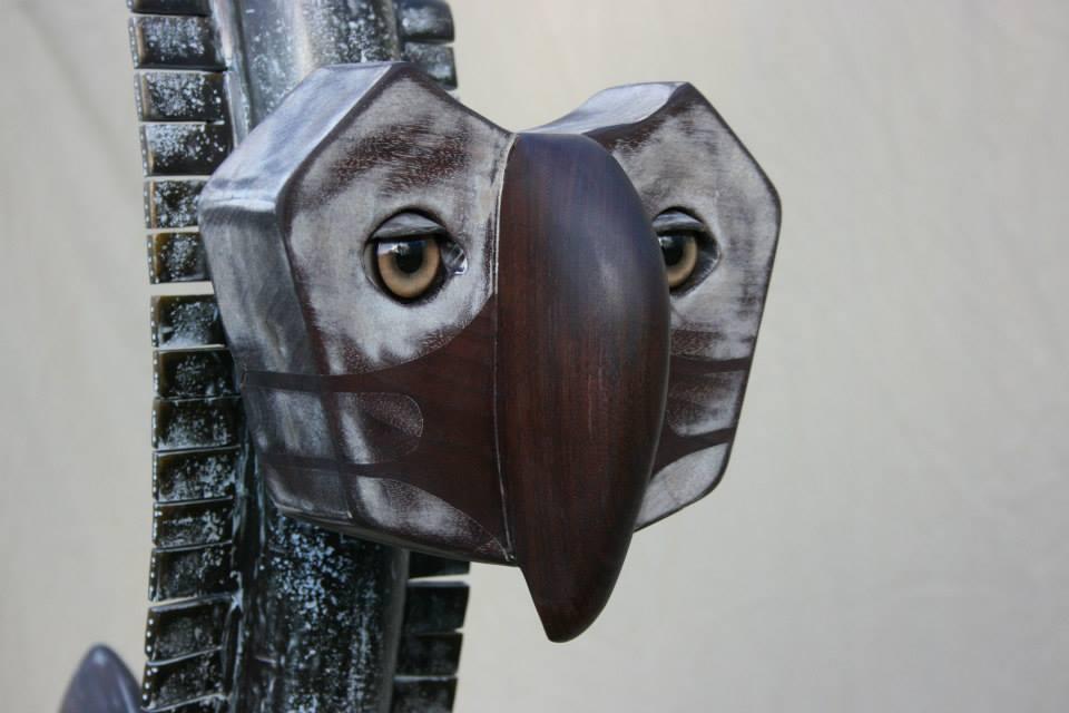 "Sculpture, ""White Bird"", side of face detail"