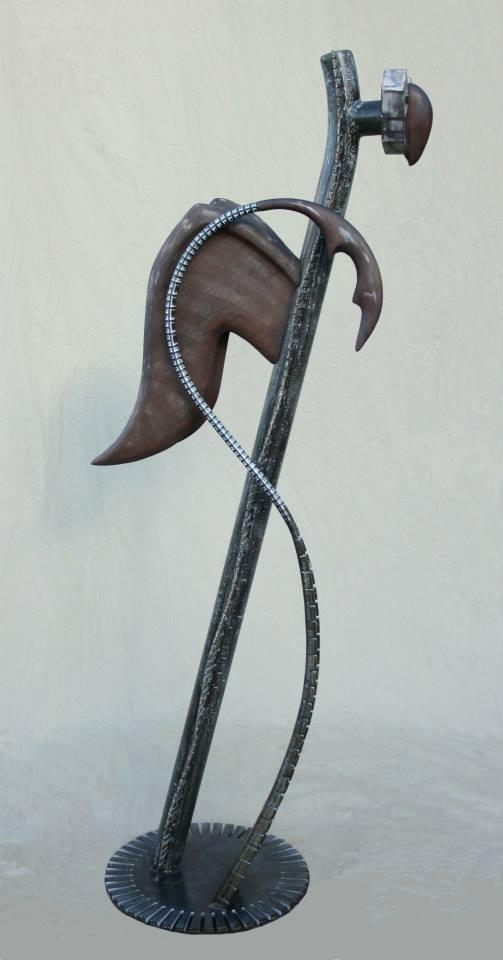 """Sculpture, """"White Bird"""", side"""