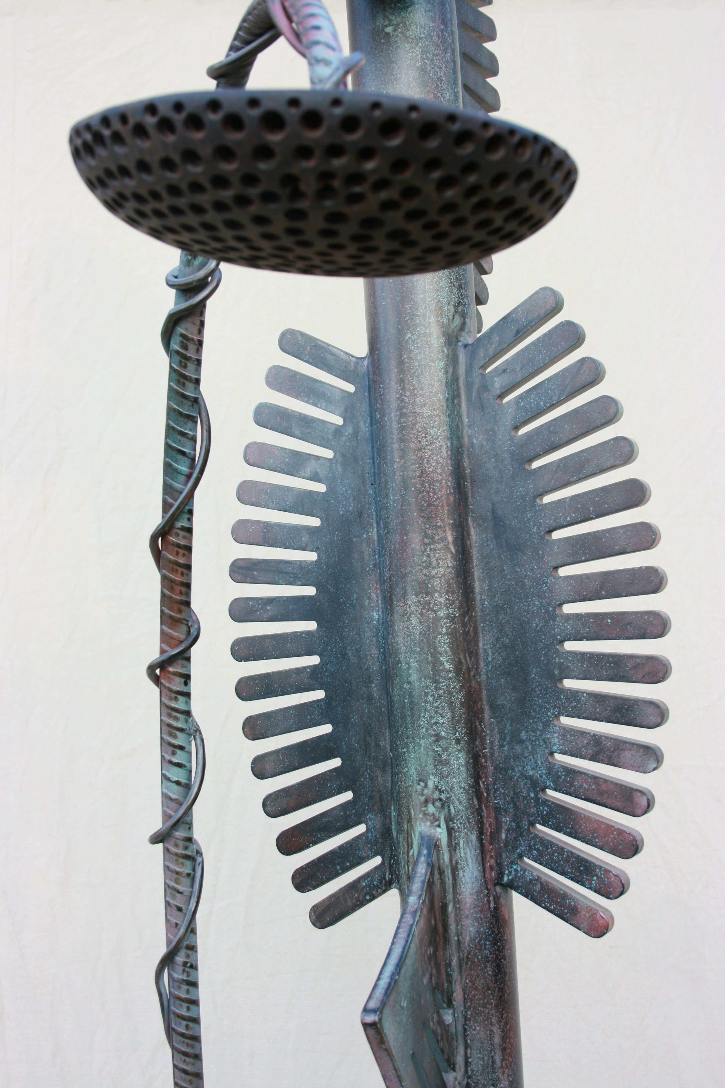 """Sculpture, """"Chief"""", detail"""