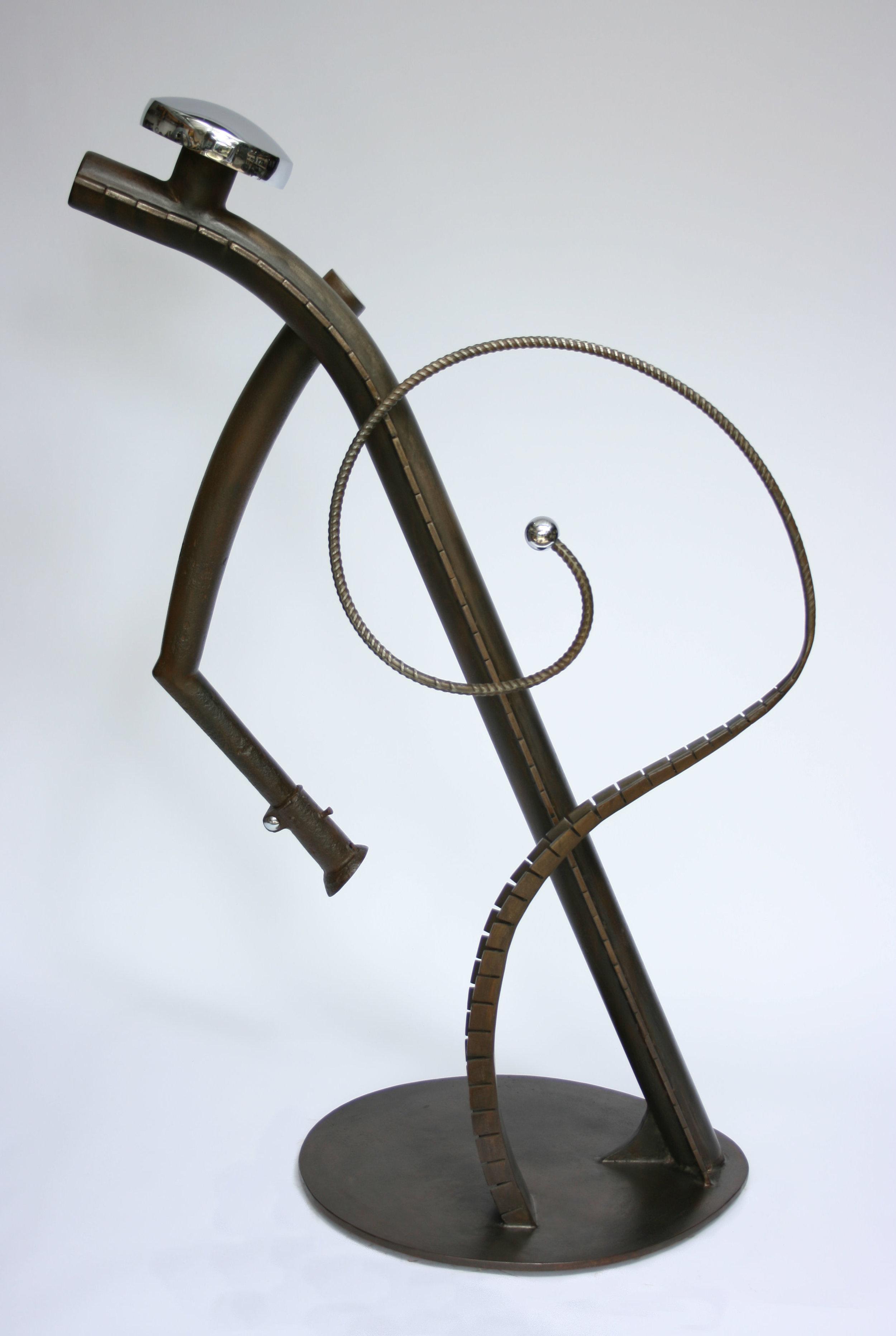 """Sculpture, """"Star Gazer"""", side view"""