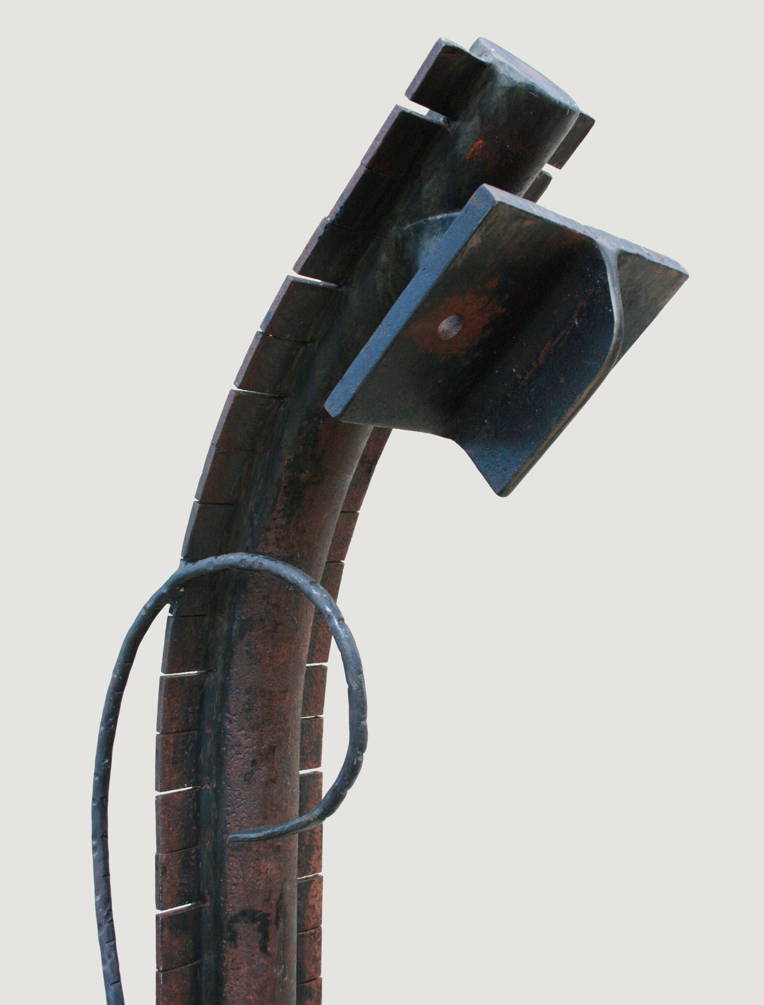 """Sculpture, """"Warrior"""", detail"""