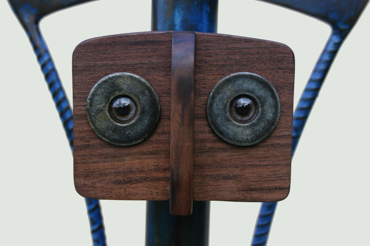 """Sculpture, """"Blue Child"""", face detail"""