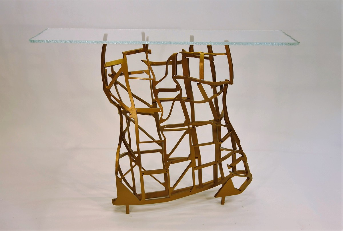 "SOLD- ""Corset Table"", created in collaboration with Sharon King."