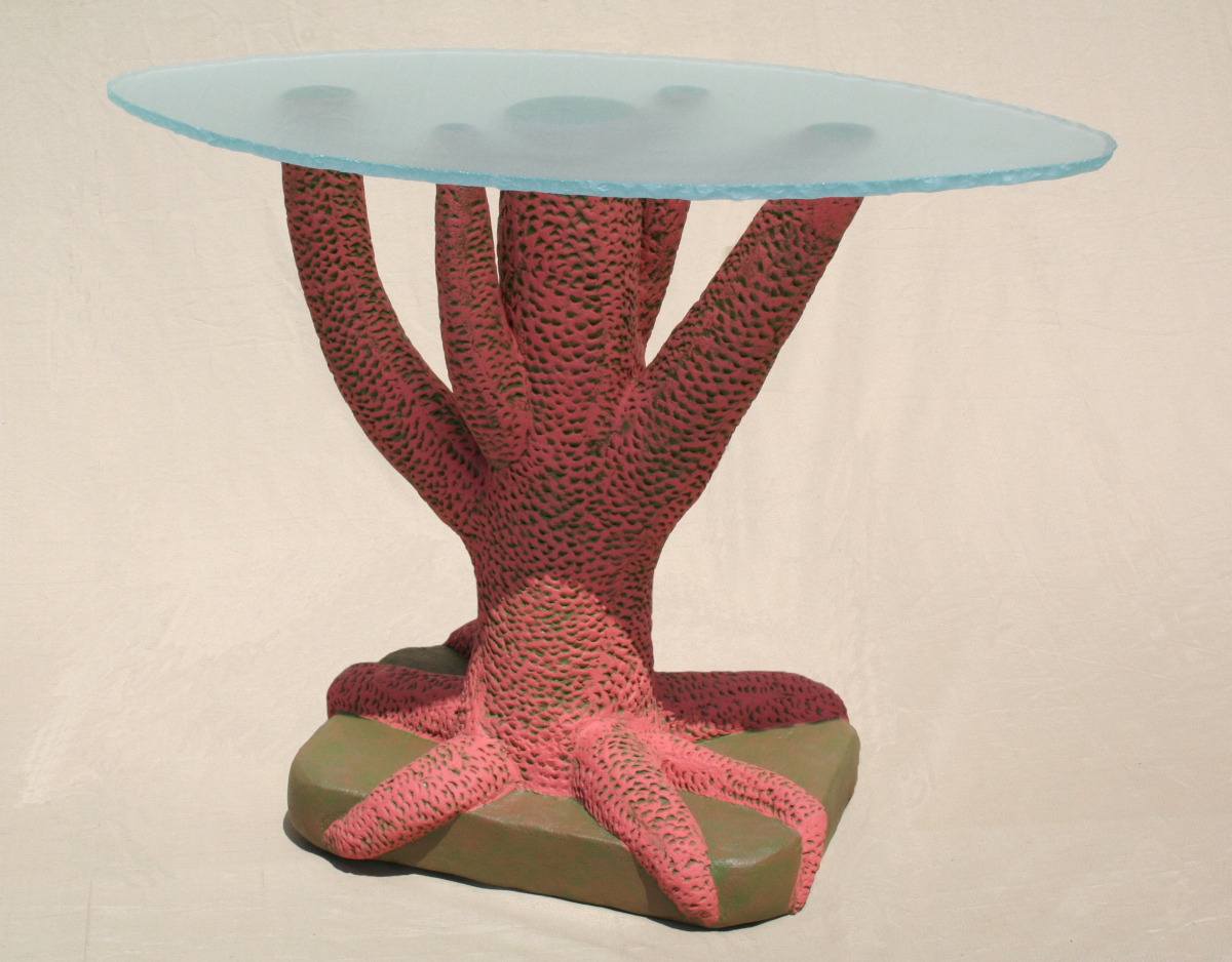 """Coral Table"" with glass"