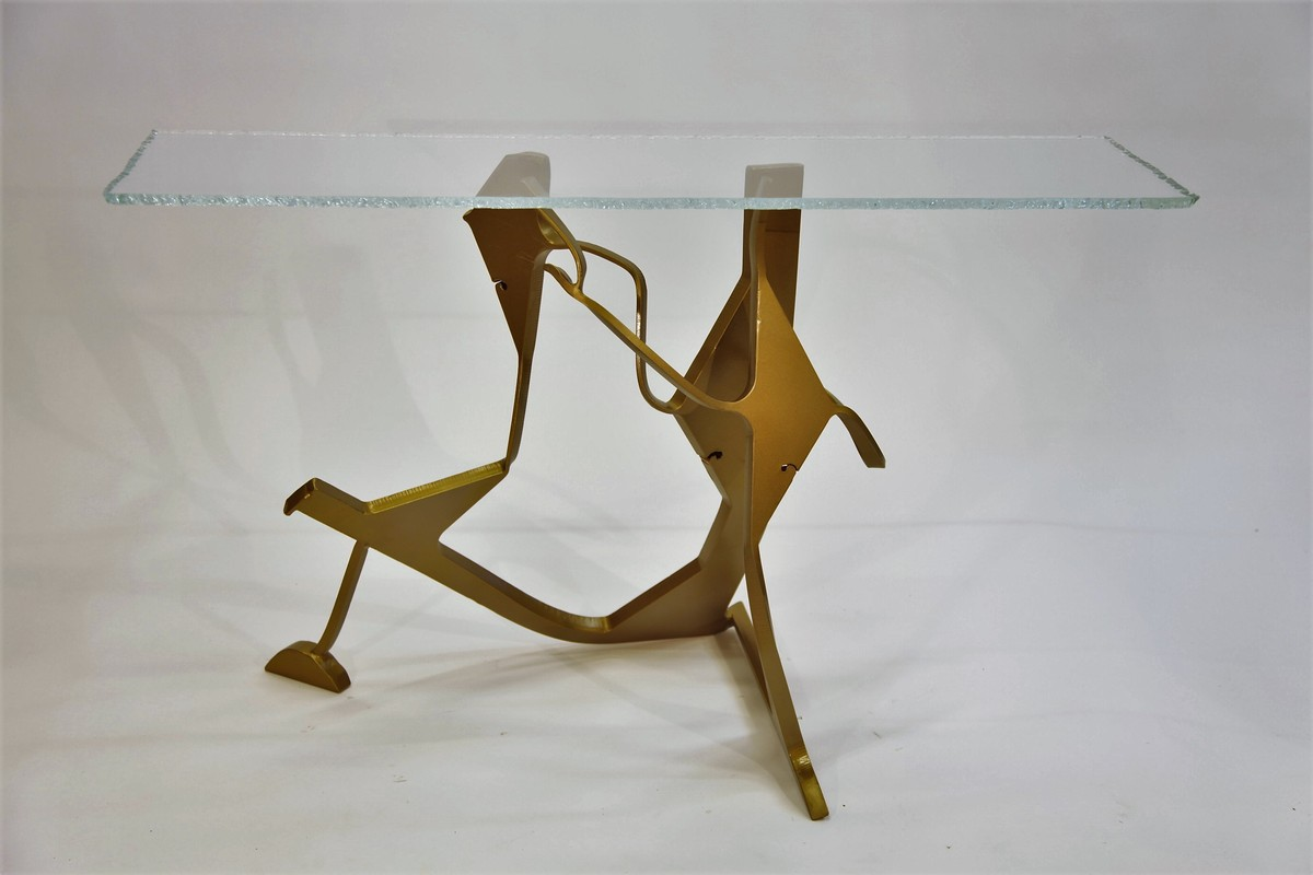 "SOLD- ""Dancer Table"", created in collaboration with Sharon King."