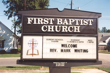 School, Church, Fire Departments Signs — Sign & Awning ...