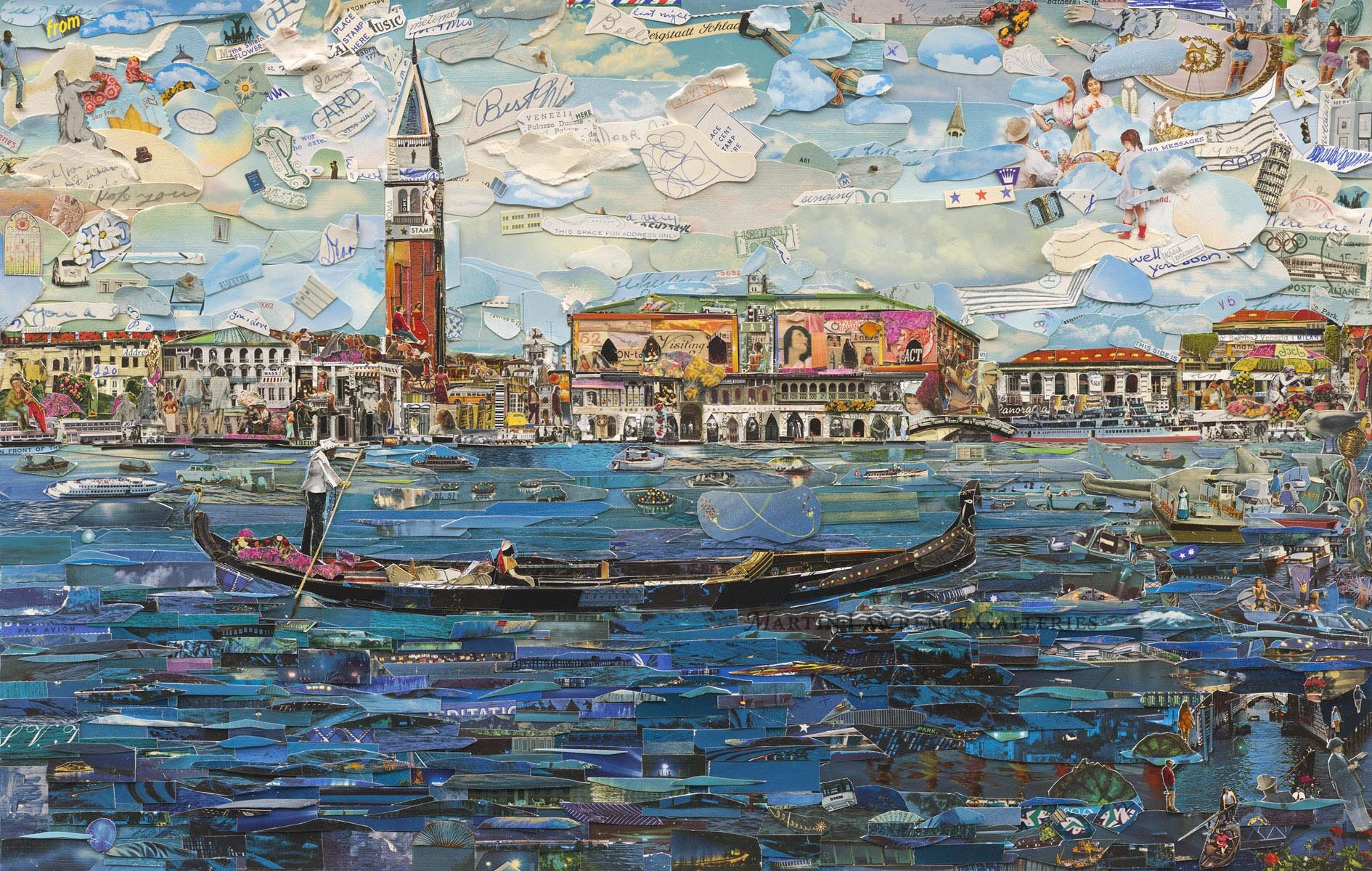 Vik Muniz Venice (Postcards from Nowhere) 2014 digital chromogenic print