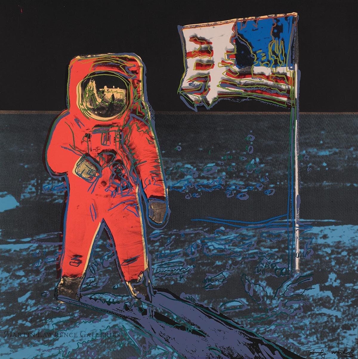 Andy Warhol, Moonwalk, 1987,    unique trial-proof screen print