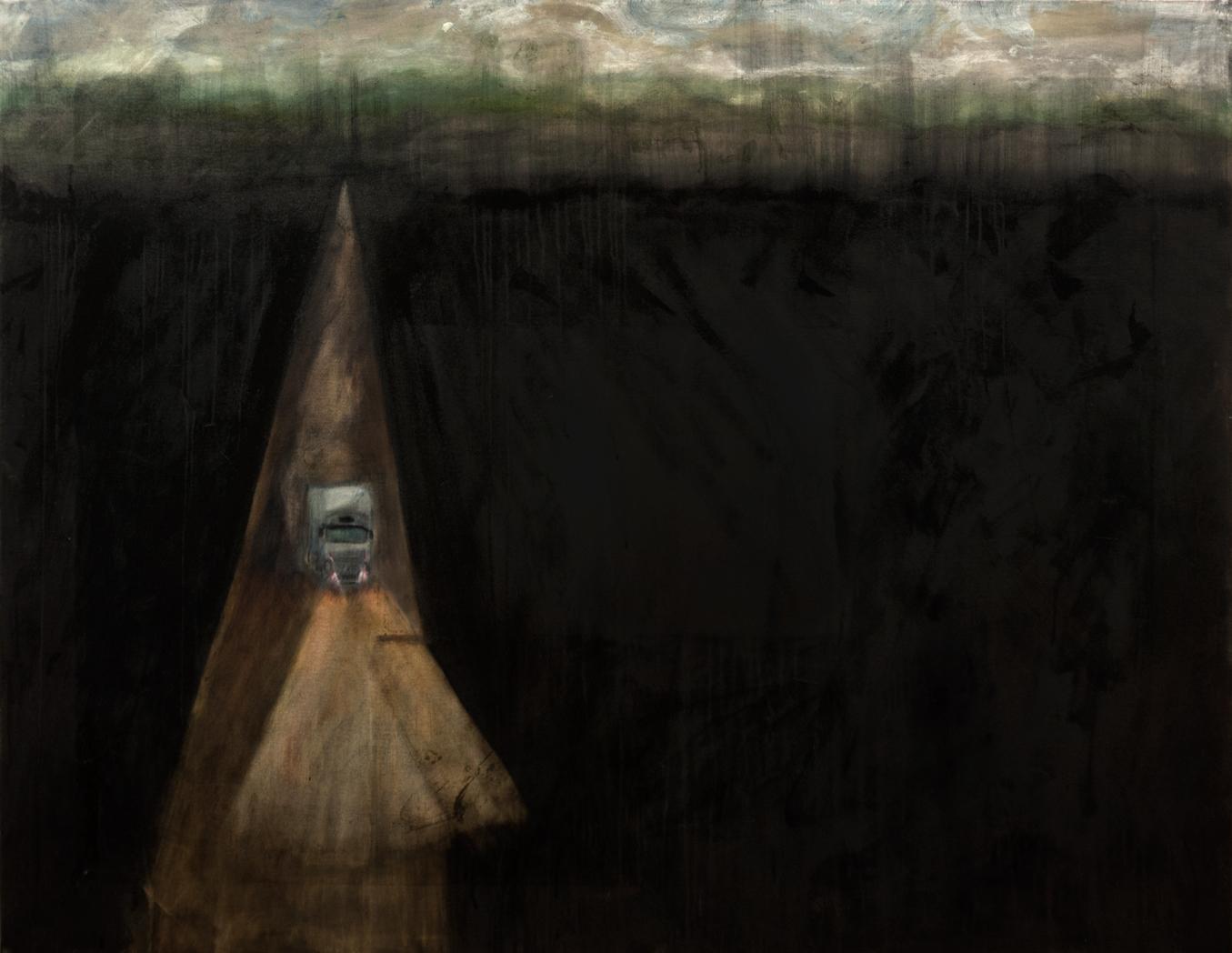 Caminhãozinho  2015  Tinta óleo sobre tela  125 x 160 cm   Coleção Particular