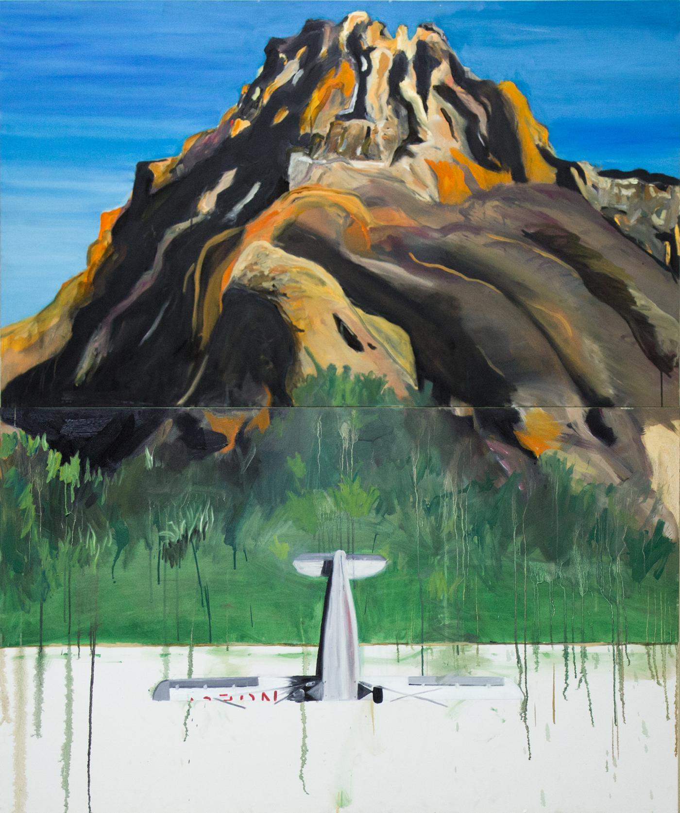 Aviãozinho  2015 Tinta á óleo sobre tela 180 x 160 cm   Coleção Particular