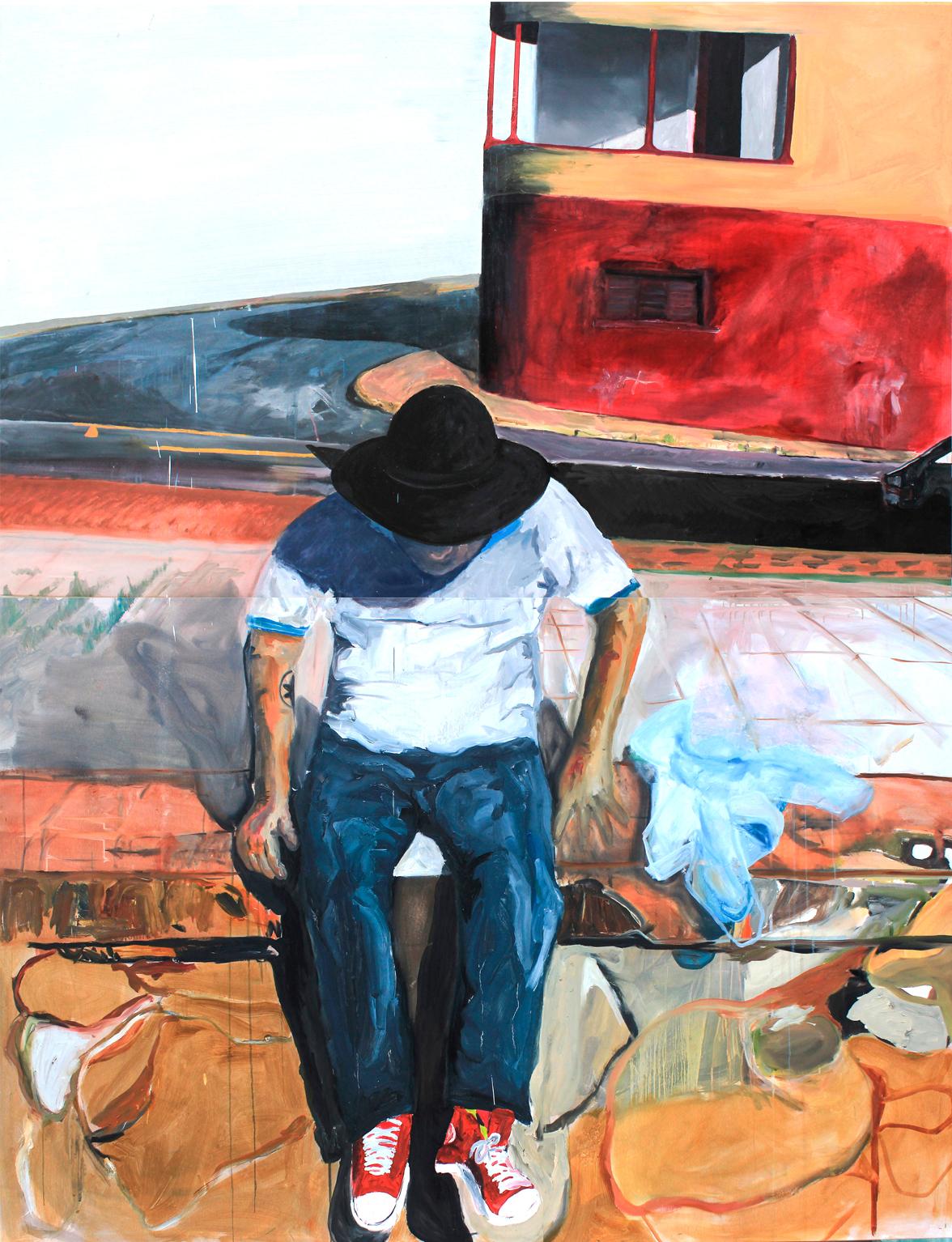 RES em Limeira  2015  Tinta óleo sobre tela  210 x 160 cm   Coleção particular