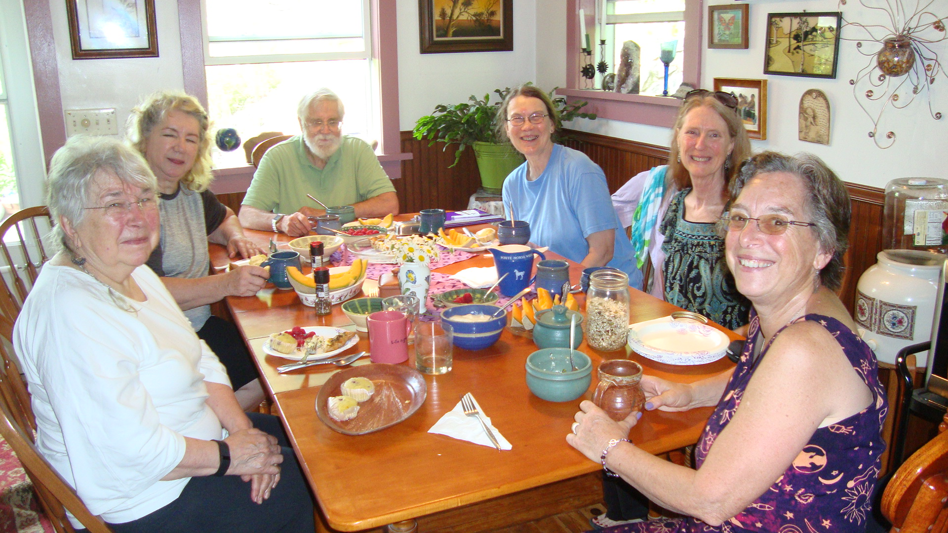 Family style meals in the historic Lock Keeper's home
