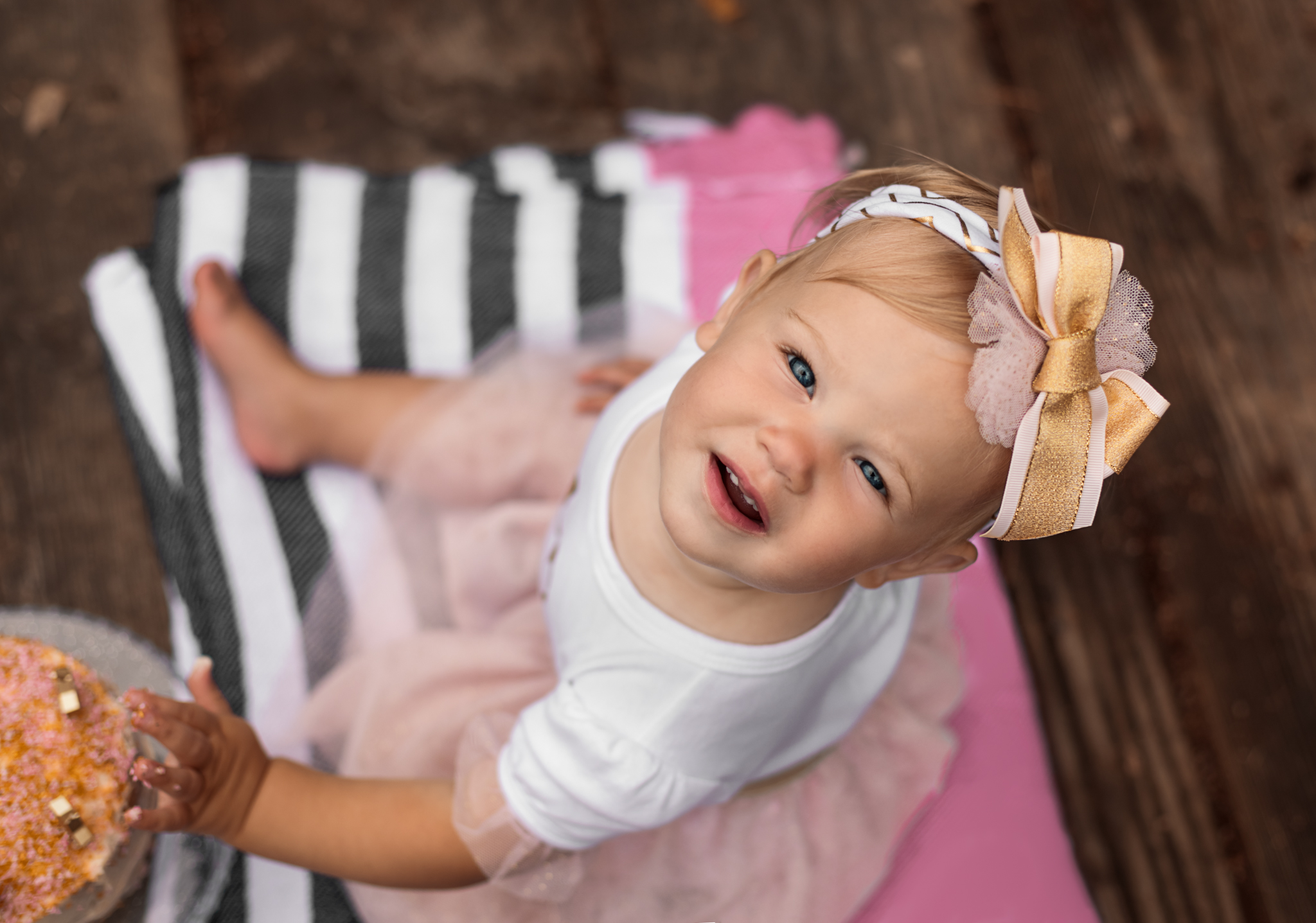 Happy First Birthday, Amelia's Cake Smash by Shannon Revelle Photography, Taylor, MI 48180